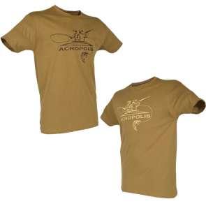 Чоловіча футболка для рибаків Акрополіс в коричневого кольору