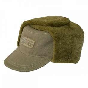 Акрополіс ОШМ-2 шапка зимова з брезенту, зі штучним хутром
