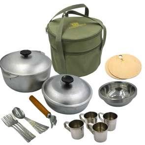 Сумка з посудом для пікніка на 4 людини Акрополіс СДП-2