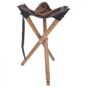 СТ-1хб Стілець зі сидінням з натурального хутра бобра для мисливців